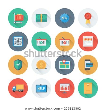 Winkelen stijl winkel iconen collectie Stockfoto © lucia_fox