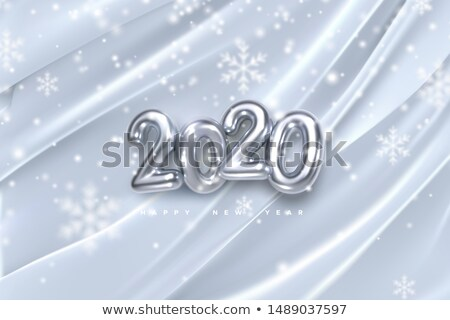 Golvend zijde abstract vector witte zilver Stockfoto © pikepicture