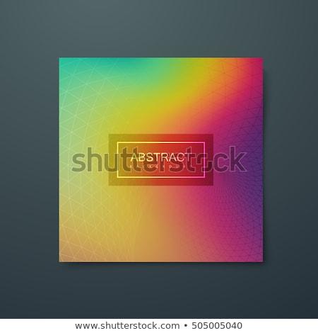 szett · hullámos · szivárvány · terv · tavasz · absztrakt - stock fotó © pikepicture