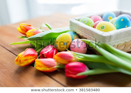 Easter Symbol Egg and Spring flower. stock photo © Olena