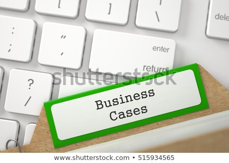 Archive Bookmarks of Card Index with Financial Report. 3D. Stock photo © tashatuvango