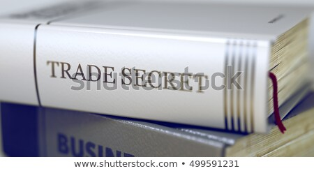 Libro título espina comercio secreto 3D Foto stock © tashatuvango