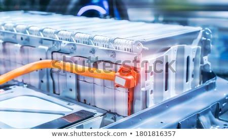 Eco groene energie batterij licht blad schone Stockfoto © rufous