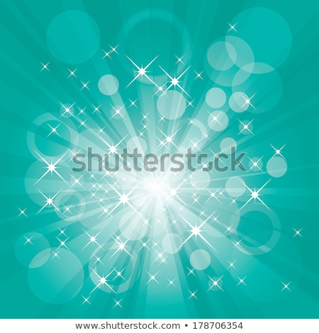 teal flare rays stock photo © pakete