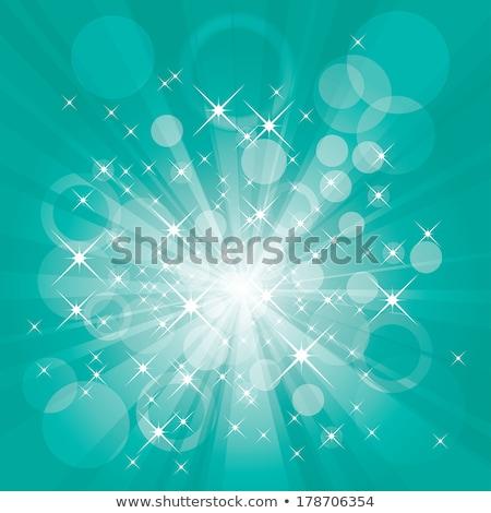 vektor · türkiz · bokeh · nem · természet · gyönyörű - stock fotó © pakete