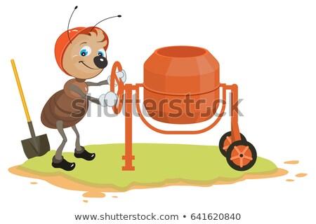рабочих муравей конкретные смеситель изолированный белый Сток-фото © orensila