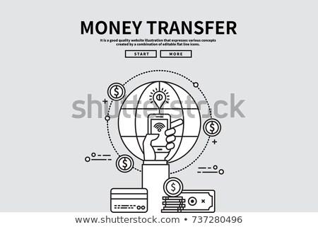 Csere bitcoin valuta tőzsde felirat virtuális Stock fotó © MaryValery