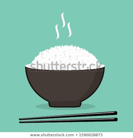 Czarny ryżu zbóż tablicy odizolowany zdrowa żywność Zdjęcia stock © MaryValery
