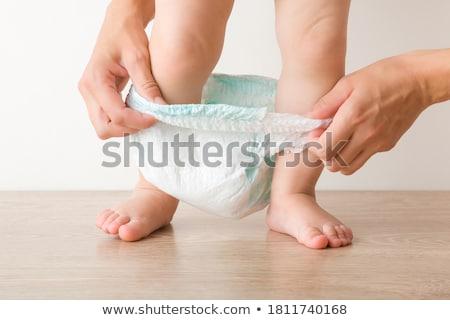 Criança fralda cabelo escuro branco amor cabelo Foto stock © Traimak