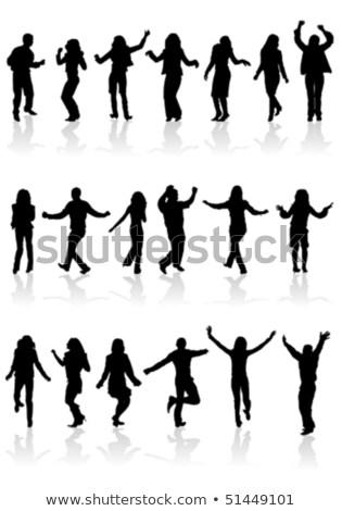 illusztráció · sziluett · tánc · lány · pólus · sztriptíztáncos - stock fotó © -talex-