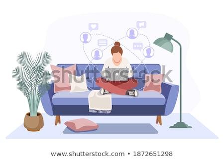 içerik · pazarlama · dizüstü · bilgisayar · ekran · 3d · illustration - stok fotoğraf © tashatuvango