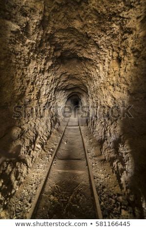 Vieux mine domaine signe herbe vert Photo stock © alexeys