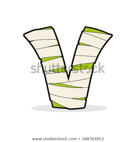 Mektup mısır ikon tıbbi bandaj canavar Stok fotoğraf © popaukropa