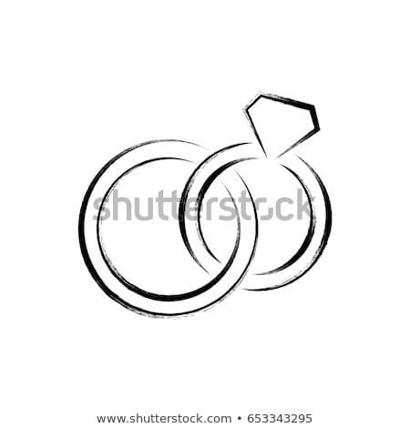Vetor anéis de casamento sinais branco estilo Foto stock © blumer1979