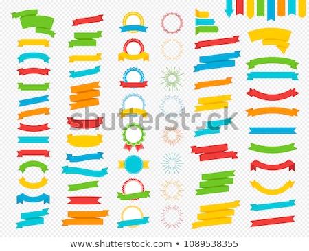 kleur · label · weefsel · vector · realistisch · kleding - stockfoto © cammep