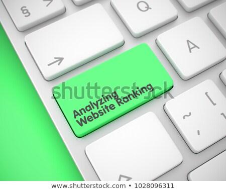 Site mensagem verde teclado chave Foto stock © tashatuvango