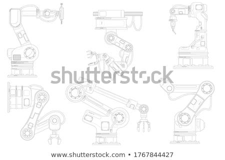 Moderno industrial robô conjunto isométrica robótico Foto stock © studioworkstock