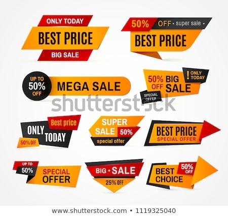 Legjobb választás izolált vektor matrica fehér kiskereskedelem Stock fotó © studioworkstock