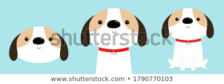 Adopt me, red heart, cute cartoon character, help animal concept, pet adoption, vector illustration. Stock photo © ikopylov