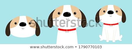 adopt me red heart cute cartoon character help animal concept pet adoption vector illustration stock photo © ikopylov