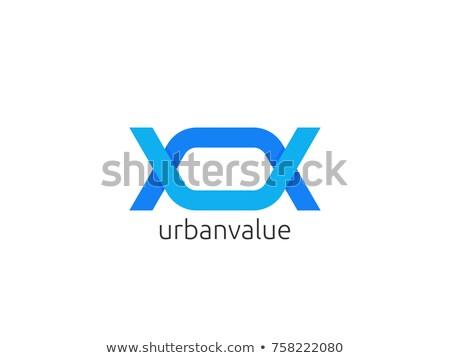Streszczenie list un uv logo ikona Zdjęcia stock © taufik_al_amin