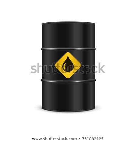 баррель нефть белый черный стали вектора Сток-фото © popaukropa