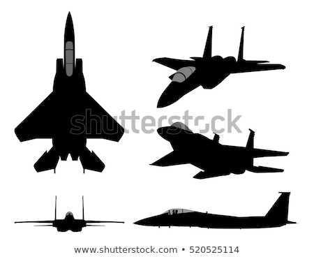 Military Fighter Jet Airplane Vector Illustration Stock photo © jeff_hobrath