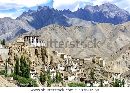 dağ · manzara · Hindistan · görmek · manastır · doğa - stok fotoğraf © dmitry_rukhlenko