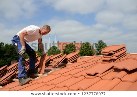 Stock photo: Roof repair or construction work