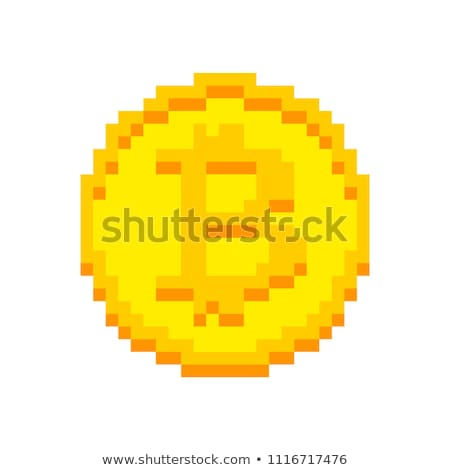 Financial Concept: Coins - Symbol on Pixelated Background. Stock photo © tashatuvango