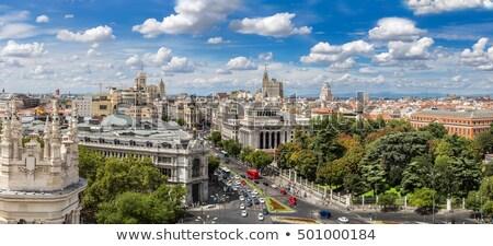 Madryt Cityscape Hiszpania panoramę piękna zmierzch Zdjęcia stock © joyr