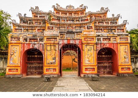 Vietnam ruinas edad edificios real Foto stock © romitasromala