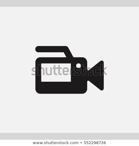 Caméra vidéo icône vecteur longtemps ombre web Photo stock © smoki