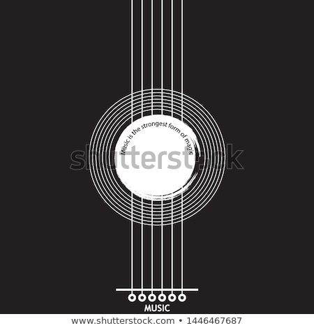 live music flyer design with acoustic guitar on grunge background vector illustration template for stock photo © articular