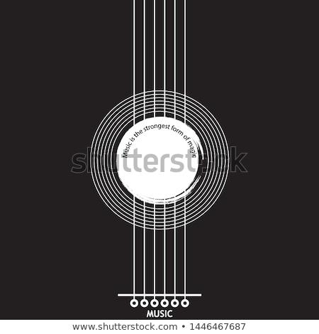 жить музыку Flyer дизайна Гранж Сток-фото © articular