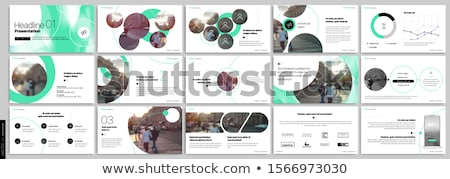 Timeline template with circles Stock photo © orson