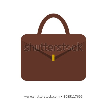 Leather Briefcase for Documents with Gold Clasp Stock photo © robuart