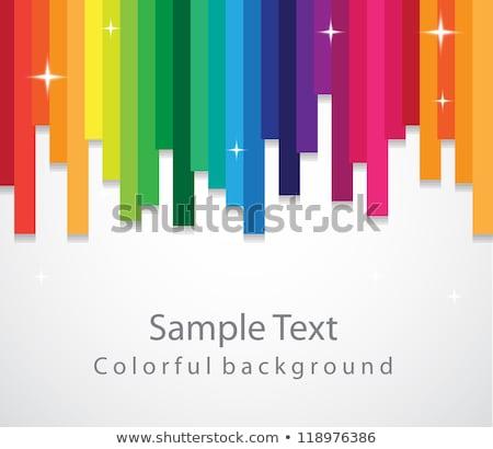 Colorato Rainbow elementi verticale numeri Foto d'archivio © orson