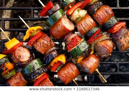 Tűz ázsiai hagyományos étel háttér nyár Stock fotó © user_9834712