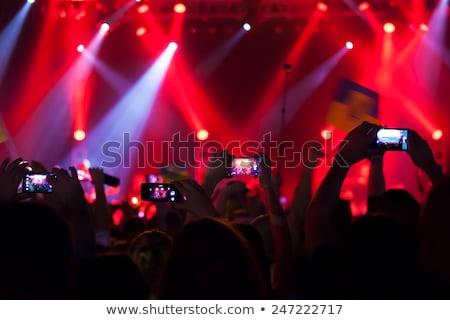 smartphone · schieten · festival · concert · wazig · muziek - stockfoto © romvo