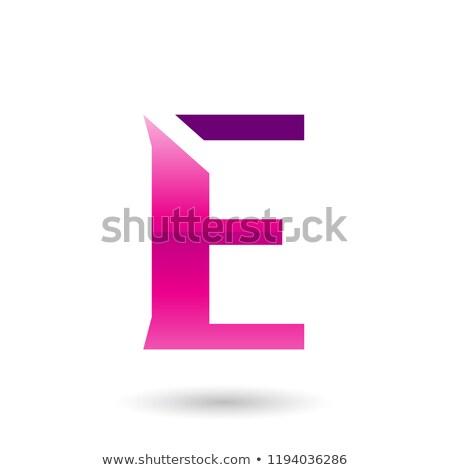 Magenta Sliced Letter E Vector Illustration Stock photo © cidepix