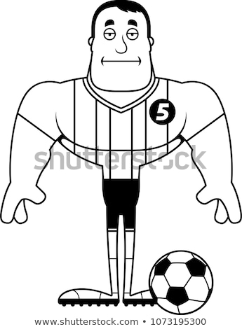Cartoon Bored Soccer Player  Stock photo © cthoman
