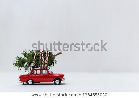 christmas · kleurrijk · retro · pijnboom · vrolijk - stockfoto © marysan