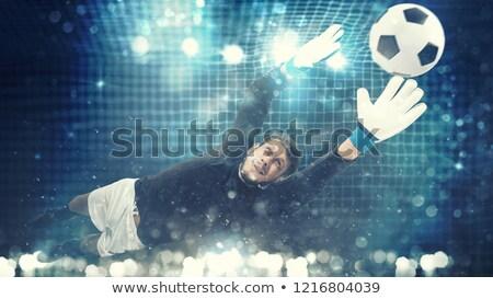 közelkép · kapus · labda · játszik · futball · sport - stock fotó © alphaspirit