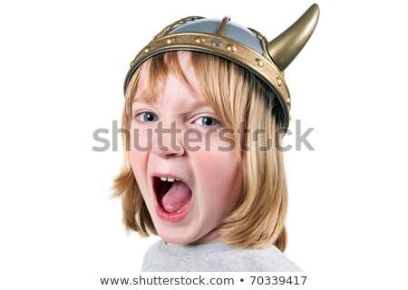 Angry Child Viking Stock photo © cthoman