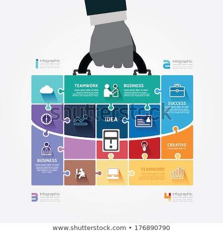 ビジネス · インフォグラフィック · デザイン · 電話 · インターネット · 緑 - ストックフォト © Linetale