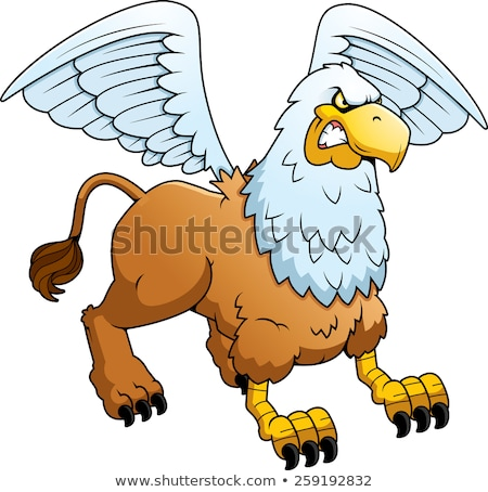Angry Cartoon Griffin Stock photo © cthoman