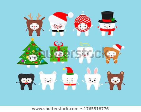 Desenho animado sorridente elfo coelho Foto stock © cthoman