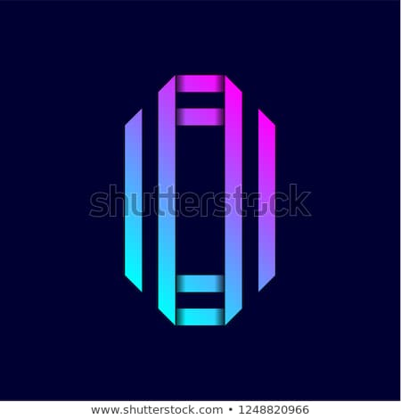 Trend színes levél összehajtva papír kettő Stock fotó © Ecelop