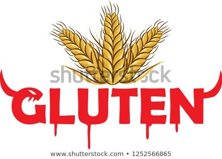 sevimli · karikatür · mısır · tahıl · yalıtılmış · beyaz - stok fotoğraf © doomko